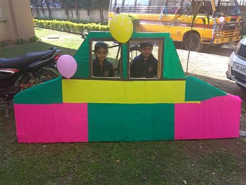 Toddlers organize an exibition on the means of transport.... | AKSIPS 65 Chandigarh