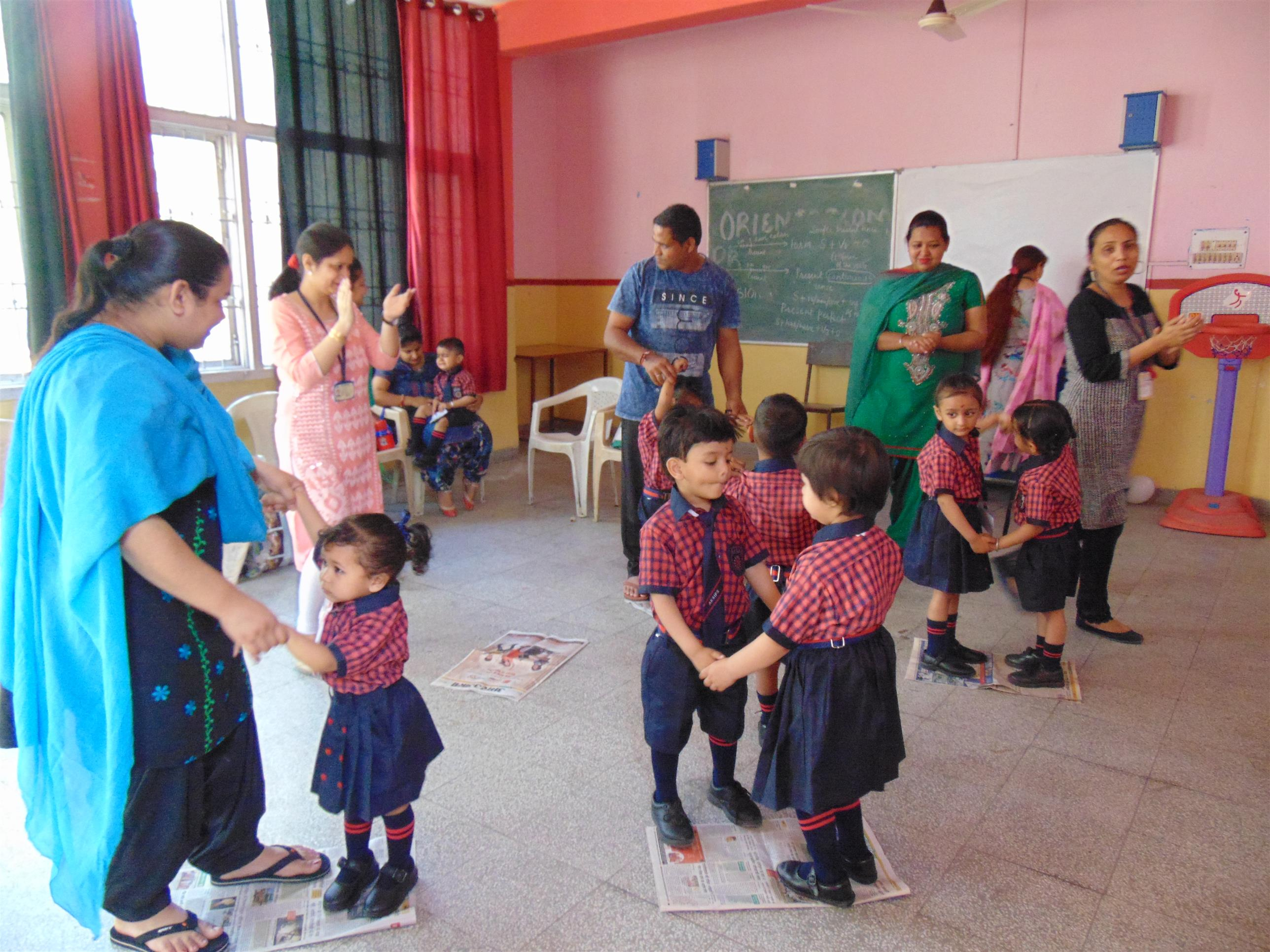 First Day in the school (Pre-Primary Wing) | AKSIPS 65 Chandigarh