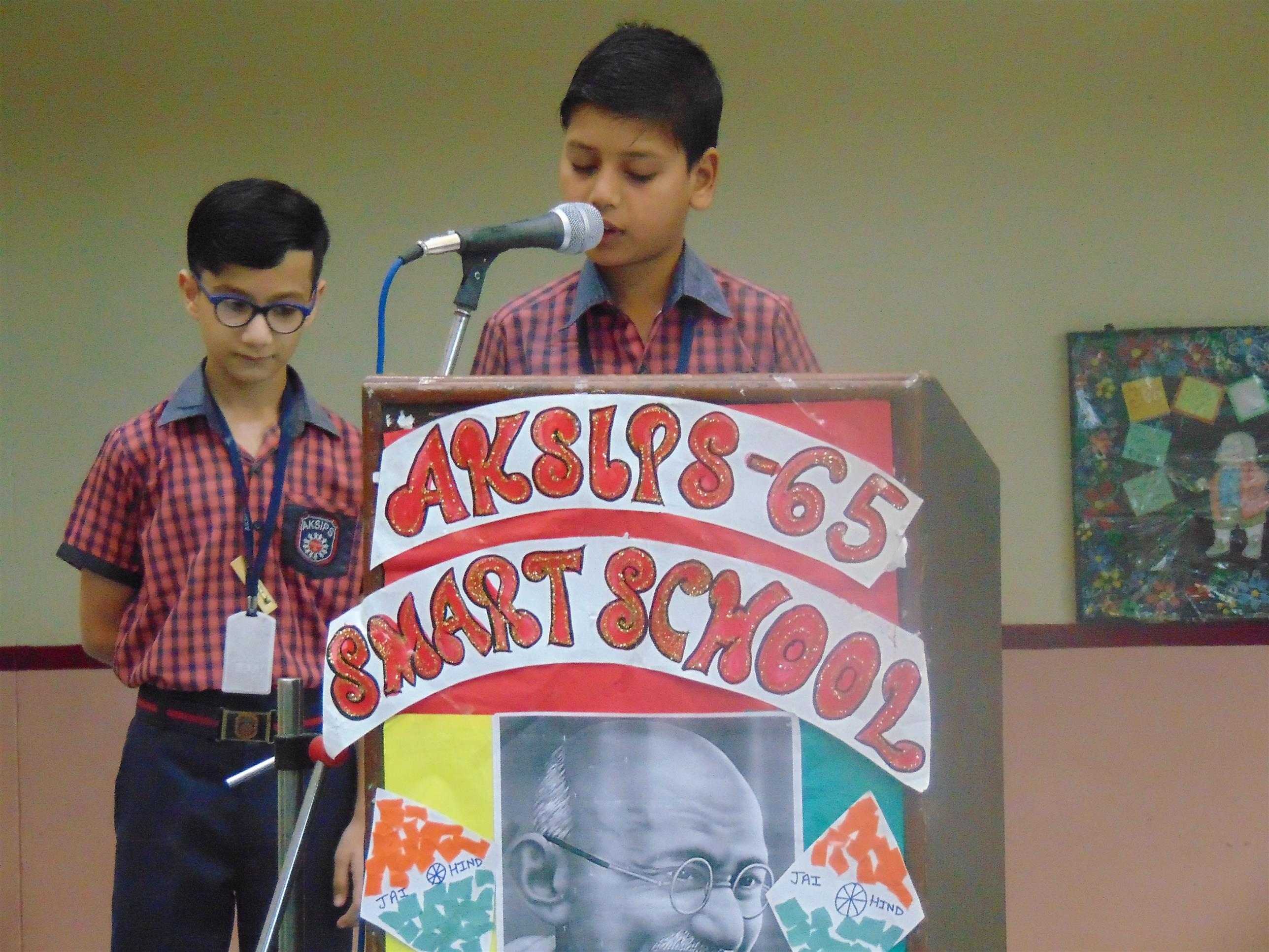 Special assembly organised to commemorate Gandhi Jayanti | AKSIPS 65 Chandigarh