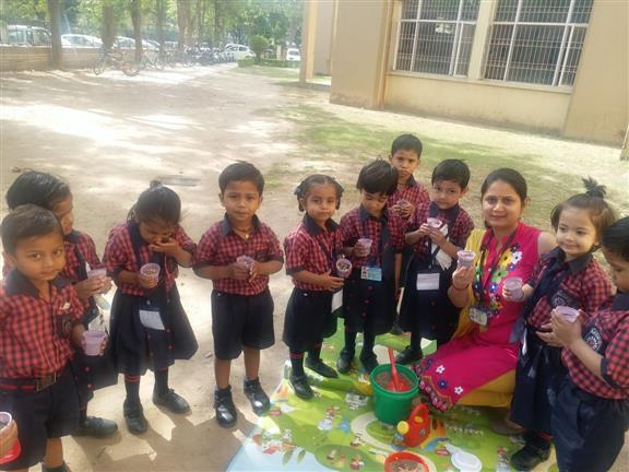Tiny ones learning to care for Mother Earth | AKSIPS 65 Chandigarh