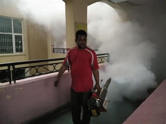Prevention is better than cure:Fumigation initiated at Aksips-65 | AKSIPS 65 Chandigarh