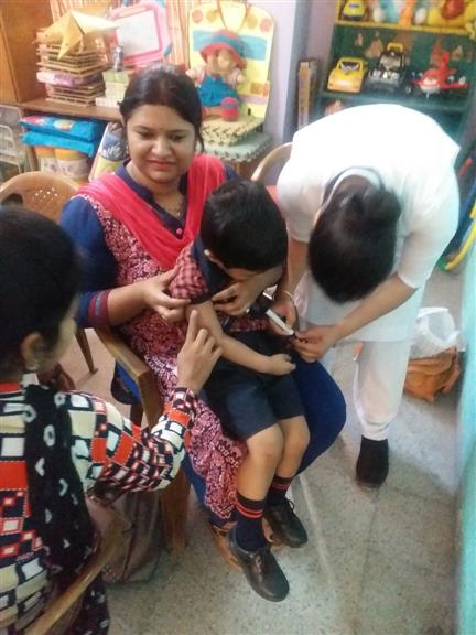 MMR VACCINATION DONE AT AKSIPS-65  | AKSIPS 65 Chandigarh
