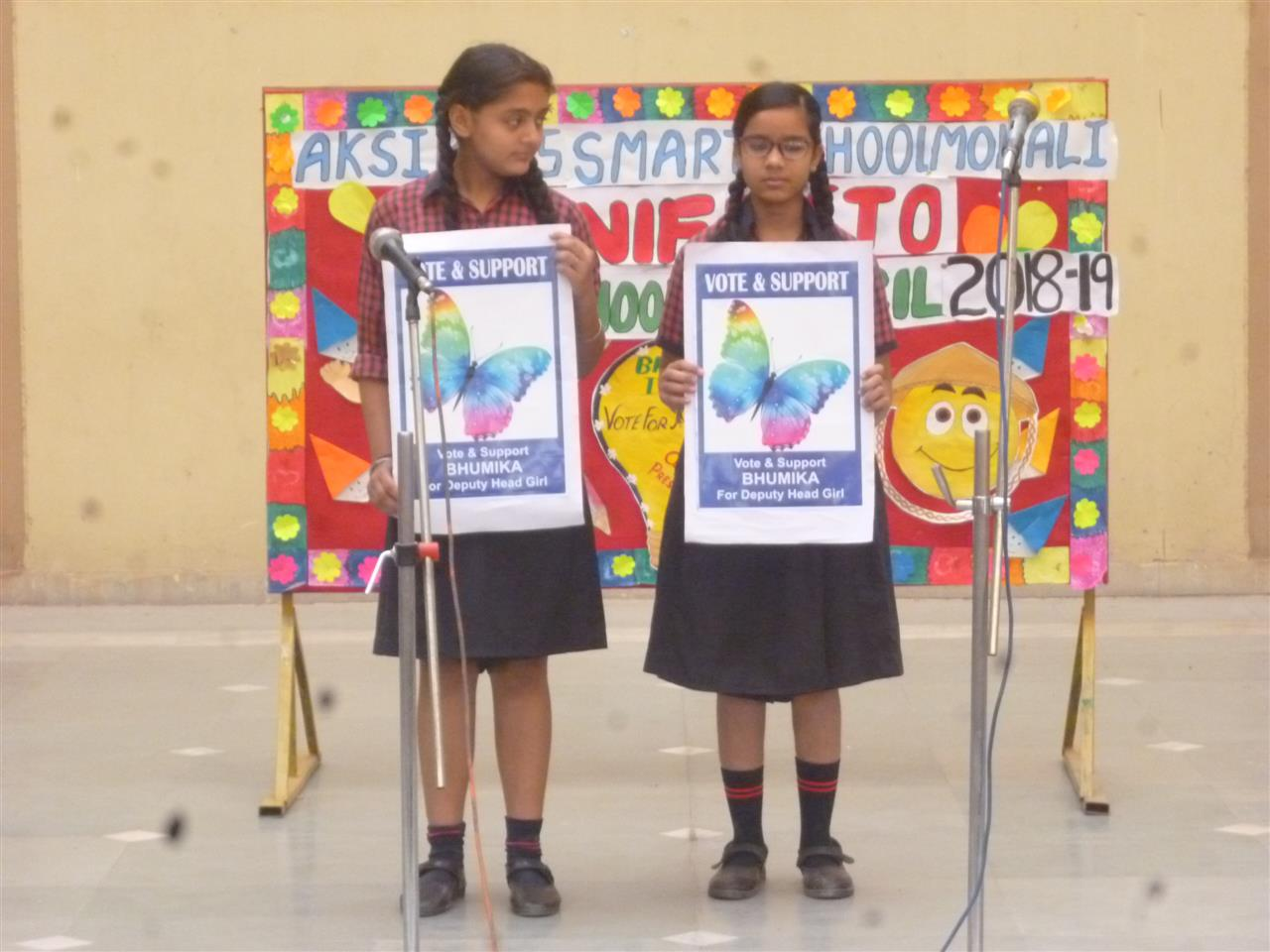 Reading of Manifesto by the young and aspiring leaders at AKSIPS-65 | AKSIPS 65 Chandigarh