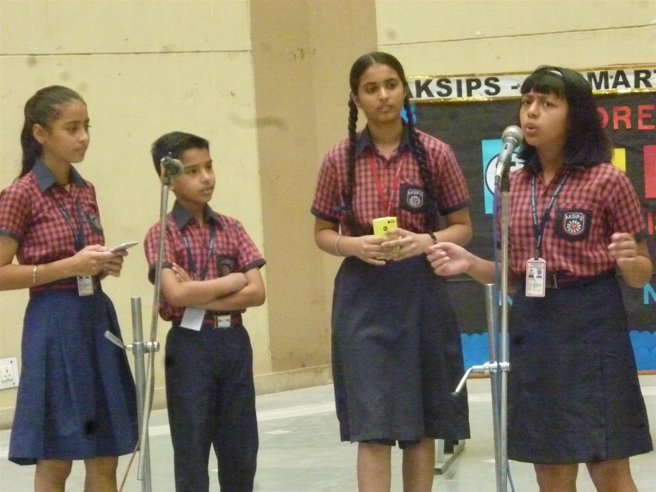 Special assembly on the harmful effects of cyber addiction | AKSIPS 65 Chandigarh