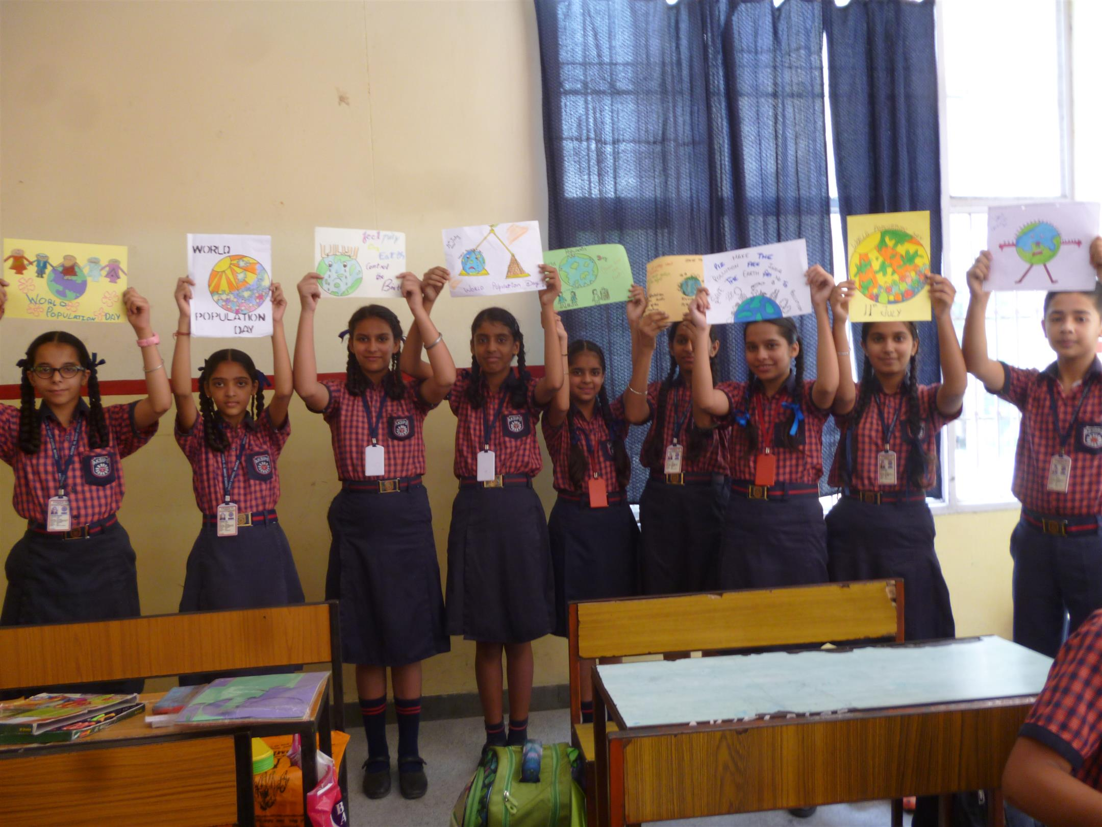 Poster making activity to create awareness about World Population Day | AKSIPS 65 Chandigarh